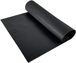 Resilia - Black Plastic Floor Runner/Protector - Embossed Wide Rib Pattern, (27 Inches Wide x 12 Feet Long)