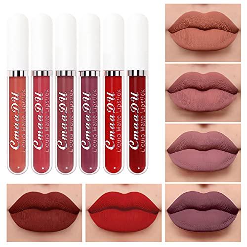 Keepwin® Pintalabios Mate Larga Duracion, 18 Colores Labiales Lápiz Labios Líquida, Lipstick Matte Impermeable Maquillaje Barra de Labios...
