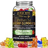Magic Man Productions Premium Hemp Gummies, Rich in Omega 3-6-9, High Potency Hemp Gummies, Hawaiian Flavors, Natural Supplement for Pain/Anxiety, Stress Relief, Excellent for Mental Focus, 120000MG