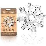Saker 18-in-1 Snowflake Multi-Tool, Amenitee 18-in-1 Snowflakes Multi-Tool – Easy N Genius - Saker 18-in-1 Stainless Steel Snowflakes Multi-Tool (Standard, Stainless Steel)