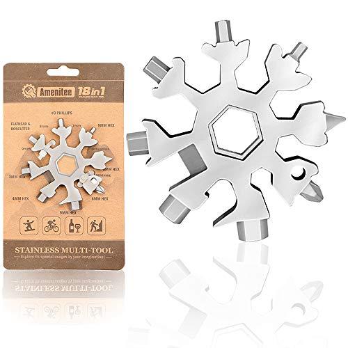 Saker 18-in-1 Snowflake Multi-Tool, Amenitee 18-in-1 Snowflakes Multi-Tool