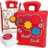 deMoca Quiet Book for Toddlers - Montessori Basic Skills Activity -...