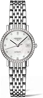 Longines L43090876 Elegant Women Watch - Mother Of Pearl Dial Stainless Steel Case Automatic Movement