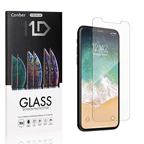 [4 Stück] Conber Panzerglas Schutzfolie für iPhone 11 Pro/iPhone XS/iPhone X, [9H Härte][Anti-Kratzen][Anti-Öl] Panzerglasfolie Displayschutz für iPhone 11 Pro/iPhone XS/iPhone X
