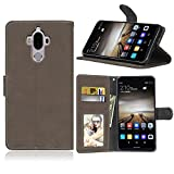 Zl One Matting PU Leather Protection 3 Card Slots Wallet Flip Case Cover for Huawei Mate 9 (Brown)