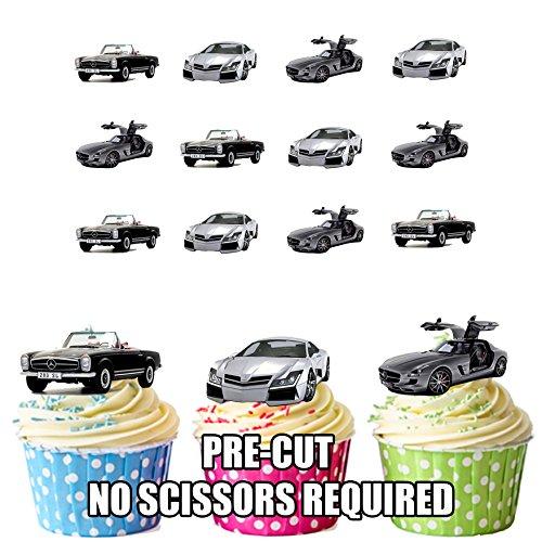 mächtig Mercedes Benz Automix Kuchendekoration – 12 essbare Kuchen Pappbecher