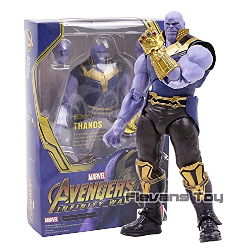 JUNMAIDZ Action Figures Infinity Iron Spider Dr Strange Star Star Lord Captain Thanos Toy Action Figure Modelo (Color : Thanos 18cm)