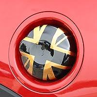 ガスタンクドアカバーフューエルキャップカバー Gas Tank Door Cover Fuel Cap Cover Gas Lid Cover For Mini Cooper ONE/S/JCW Clubman Countryman Covertible Hatchback Hardtop (F55 F56 F57 2.0T, Union Jack Gold)