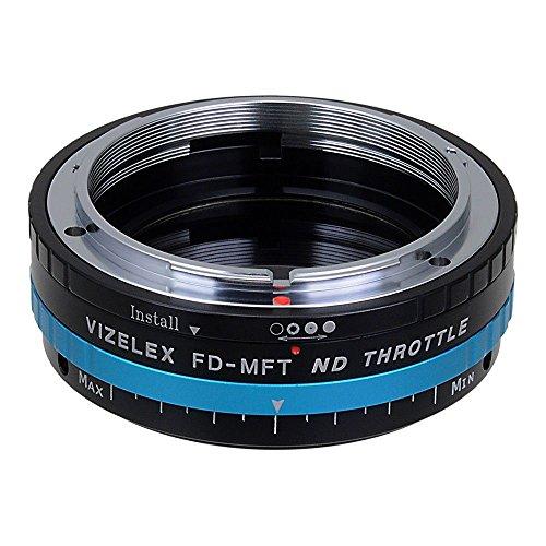 Fotodiox - Adaptador Vizelex con filtro de DN variable incorporado (ND2-ND1000) para objetivos Canon FD (FD, FL) para Micro Cuatro Tercios (como OM-D E-M10, Lumix GH4, y Black Magic Pocket)