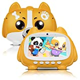 Kids Tablet for Learning and Entertaining, 7 inch 1024x600 IPS HD Screen, 1GB RAM & 16GB ROM, with Microphone Singing Function, HD Camera, WiFi, Bluetooth, Parental Control, Best Gift for Boys Girls