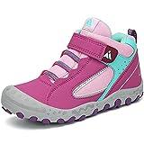 Mishansha Jungen Trekkingschuhe Mädchen Wanderstiefel Kinder Leicht Hoch Sneakers für Outdoor Sport Walking Hiking, Violett,31 EU