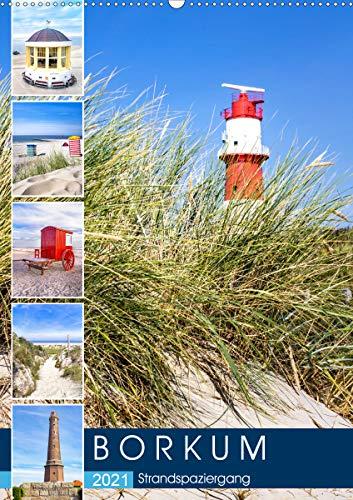Borkum Strandspaziergang (Wandkalender 2021 DIN A2 hoch)