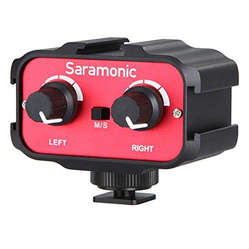Saramonic SR-AX100 Pro Universelle Audio Mixer Adapter mit 3,5mm Eingänge für DSLR Kamera und Camcorder Mikrofone