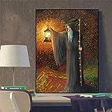 Ermitaño Tarjeta de Tarot Imagen Navidad Jesús Regalo Carteles e impresiones Pintura en lienzo Carteles murales Sala de estar Sin marco Pintura decorativa en lienzo Z31 30x40cm