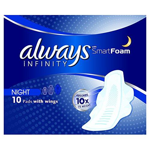 Always Infinity Night (maat 3) damesverbanden met vleugels, 10 bindingen, revolutionaire technologie, altijd het beste comfort en bescherming.
