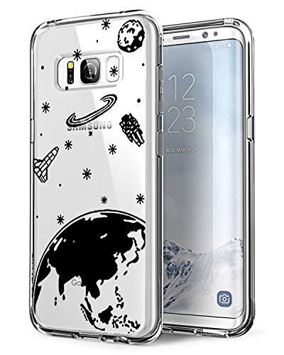 AIsoar Coque Compatible pour Samsung Galaxy S8,TPU Silicone Protection Mignon Premium Bumper [Liquid Crystal] Ultra Mince Etui Transparent/Exact Fit/Souple pour Samsung S8 (Espace)