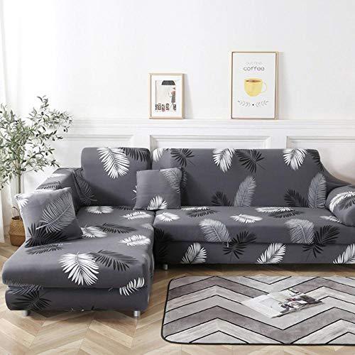GFFGA Fundas de sofá en Forma de L de 4/3/2/1 plazas Sala de Estar Chaise Longue Spandex Reposabrazos Fundas de sofá de Esquina Estiramiento.