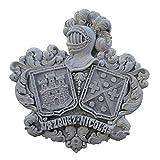 Talla de piedra artificial de 2 escudos heráldicos de...