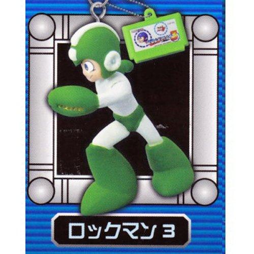Megaman Rockman Phone Key Chain Strap Figure System - Megaman (Green) with Megaman 3 Cartridge