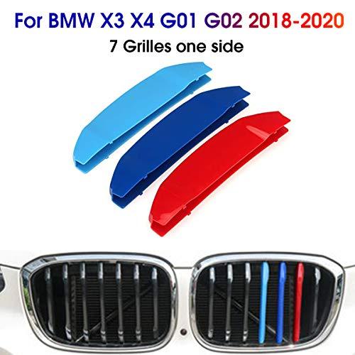 3D Front Kühlergrille Für BMW X3 X4 G01 G02 2018-2020 Frontgrill Zierleisten Nieren Kühlergrill Kappe Schnalle Streifen Trim Grille Abdeckung Aufkleber 3 Stück