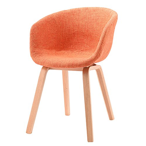 MENA Uk Designer Stuhl Sessel Stativ Hochwertiger Bent Wood Panton Designer Stuhl (Farbe : Orange, größe : H75cm)
