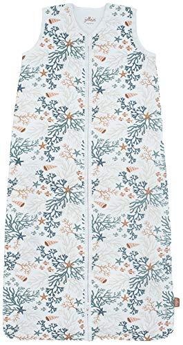 Jollein Sommerschlafsack für Babys (110 cm) aus 100% Baumwolle (TOG 0,5), Korallenmotiv 048-529-66000