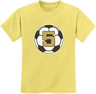 Tstars - 5 Year Old Fifth Birthday Gift Soccer Youth Kids T-Shirt