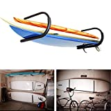 FDB SUP U Kayak Snowboard Surfboard Paddleboard Wakeboard Wall Cradle Mount Rack Canoe Hanging Wall Frame Canoeing Aquaplane Skis Indoor Storage Ceiling Rack (1 Pairs)