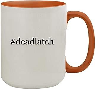 #deadlatch - 15oz Hashtag Colored Inner & Handle Ceramic Coffee Mug, Orange
