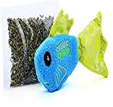 OurPets 100-Percent North-American Catnip Filled Fish Cat Toy Wet Willy