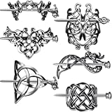 6 Pieces Silver Celtic Hair Slide Hairpins...