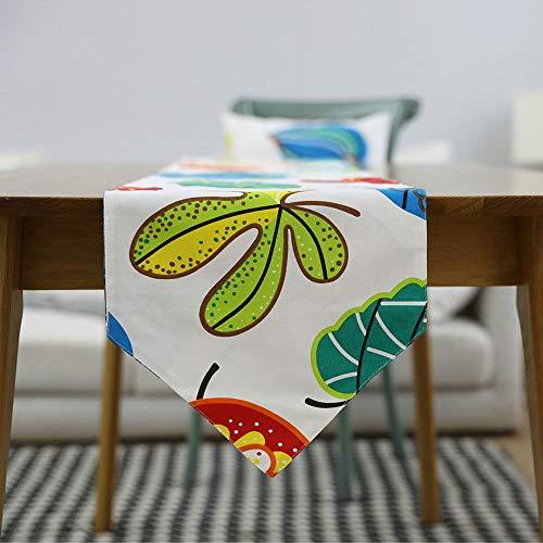 GFBVC Tischset Langlebig Blatt Bestickt Baumwolle & Leinen Tischläufer for Party Urlaub Tischdekoration Dekor Hitzebeständig (Color : Multi-Colored, Size : 30x220cm)