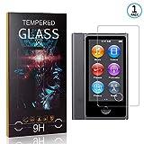 Ramcox Displayschutzfolie für iPod Nano 7, 9H Härte Anti Fingerprint Displayschutz, 3D Touch Schutzfilm aus Gehärtetem Glas, 1 Stück -