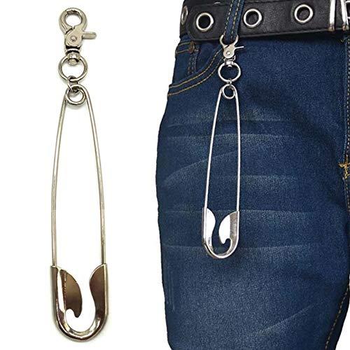 Punk Hip Hop Três Camadas Cinto De Corrente Chave Da Cintura Calças Homens Mulher Jeans Longo Metal Roupas Acessórios