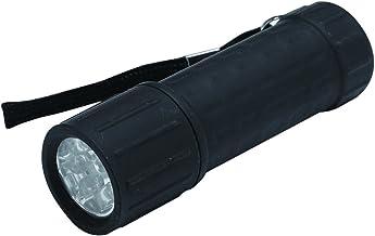 Hilka 82010920 9 LED Rubber Coated Mini Torch Display, Black