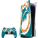 Skinit Decal Gaming Skin Compatible with PS5 Console and Controller - Officially Licensed NFL Miami Dolphins Retro Logo Design