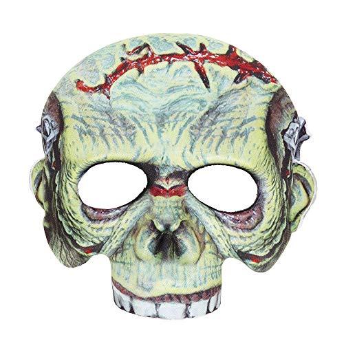Widmann vd-wdm05701 Masque en Tissu sans Menton Monstre, Vert, Taille Unique