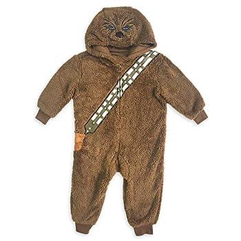 STAR WARS Chewbacca Costume One-Piece Pajama for Boys Size7/8