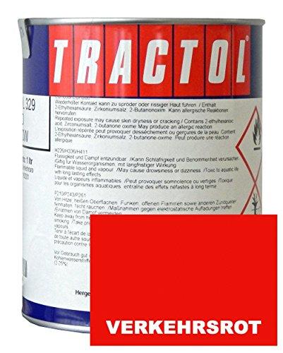 WILCKENS Schlepperlack Traktoren Lack Farbe VERKEHRSROT RAL 3020 1 Liter