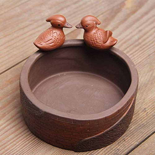 KEWEI Cenicero De Puros, Hyun Veces mandarín Pato Yixing Cenicero crisoles de cerámica decoración del hogar decoración de Flores