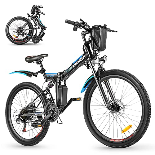mountain bike pieghevole 26 ANCHEER Bicicletta Elettrica Pieghevole