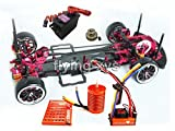 Hobbypower Alloy & Carbon 1:10 Drift Racing Car Frame Kit & SKYRC Leopard 60A ESC & Motor for Sakura D3 RC Car
