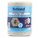 Rutland 12-118R Bobine de fil de clôture électrique - Blanc