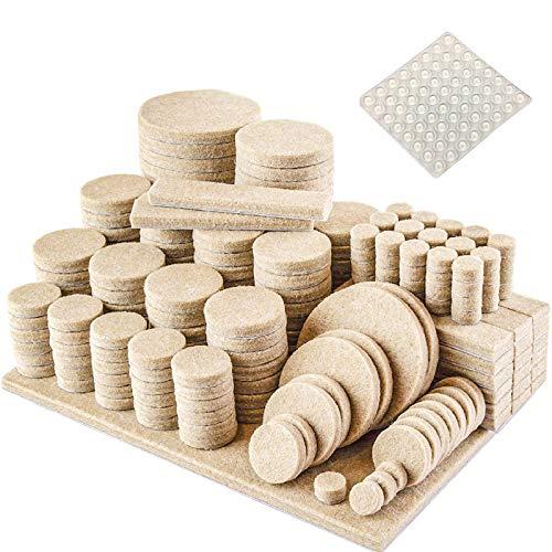 Filz-Gleiter-Filzgleiter Selbstklebend Set 235 Stück - Premium Möbelgleiter Filz Pads 5 mm Starke Effektiver Schutz Ihrer Möbel & Stühle/Möbelgleiter-Set für empfindliche Böden +64 Kapseln
