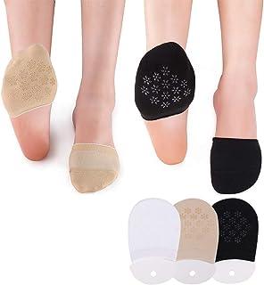 Puimentiua, Calcetines Cortos Invisibles de Mujer Antideslizantes de algodón para Pilates, Barra, Yoga y Ballet