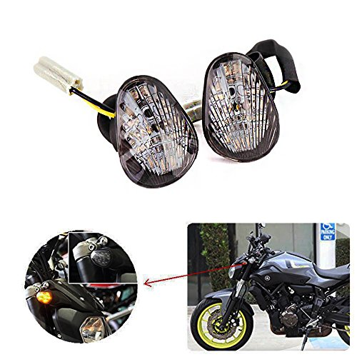 kemimoto Compatible with 2017 Yamaha FZ 07 Turn Signals FZ 09 FZ6R R1 R3 R6 LED Turn Signal Blinker Light For MT07 MT09 2014 2015 2016 2017
