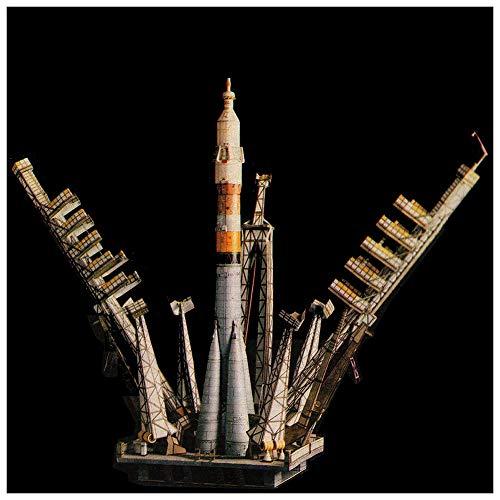 Lllunimon 60CM 1/80 Ruso Soyuz Rocket Kit De Modelo De Papel 3D Clase De Mano DIY Juguete De Origami