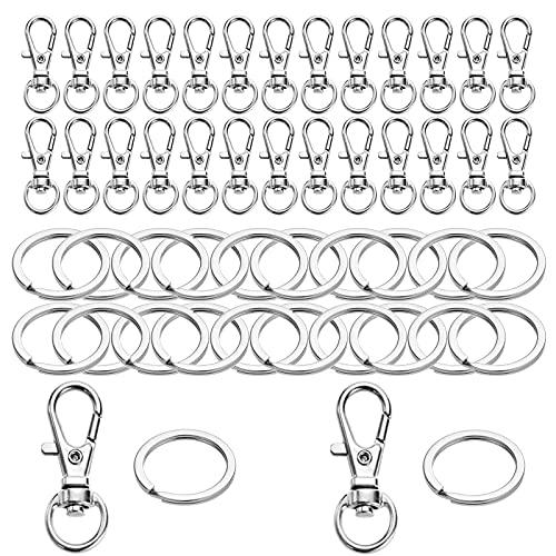 30 clips para llaves Yutou con 30 unidades, de acero inoxidable, para...