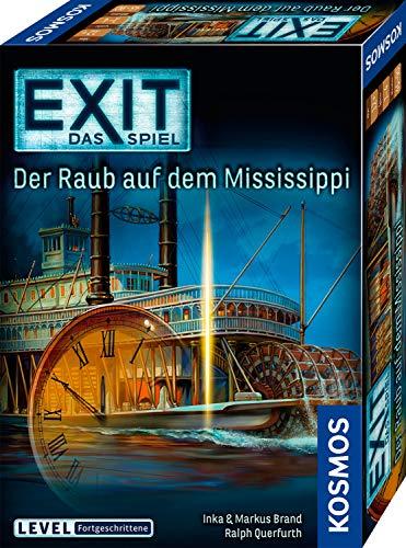 KOSMOS 691721 EXIT - Das Spiel - Der Raub auf dem Mississippi, Level: Fortgeschrittene, Escape Room Spiel