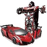 S2F5 Enfants en bas âge RC voiture jouet commandé par la voix Deformation la télécommande de voiture King Kong Robot sans fil à induction Deformation Recharge de véhicules grand modèle for les enfants